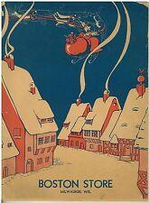 Vintage 1934  Boston Store Santa Give Away Santa's Scarpbook Mickey Mouse ad