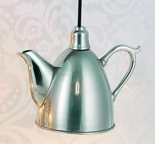 Hoff Interieur 5669 Hanging Lamp Tea-Pot 25 x 12,5 x 18 cm Silver Plated Brass