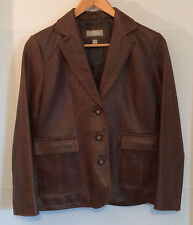 The Territory Ahead - Women's Leather Jacket - Dark Brown - Size 4P Gently Used