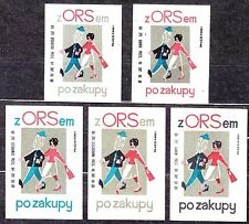 POLAND 1966 Matchbox Label - Cat.Z#676I/V set, ORS Operation hire purchase ...