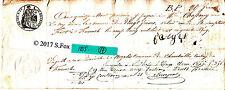 Billet a Ordre bon au porteur manuscrit timbre royal sec& humide 1855 lot 17