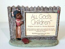 "Vintage 1988 Martha Holcombe All God'S Children Series Sign Figure 8"" x 6"""