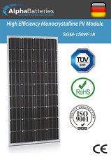 12V 150W Xplorer German Cell Solar Panel  | Caravan | Boat | Motorhome