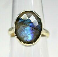 925 Sterling Silver Labradorite Gemstone Ring Size 7 US 4.00 gms jewelry