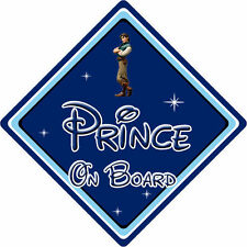Disney Prince On Board Car Sign - Baby On Board - Tangled Prince Eugene DB