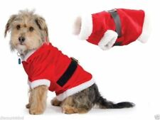 Novelty Christmas Dog Puppy Cat Pet Gifts Santa Suit Fancy Dress Costume Outfit