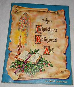 Treasure Christmas Religious Art Madonna Child Jesus Christ Holiday 1960 Vintage