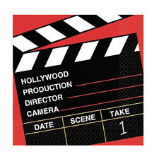 "36 Director's Cut Clapper Board Movie Set Hollywood 6.5"" Paper Lunch Napkins"