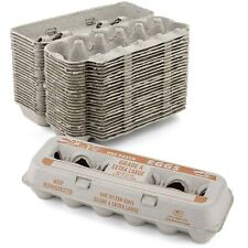 Egg Cartons Natural Pulp  (Holds 1 Dozen Extra Large Eggs) - 15 Pieces