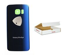 Black Sapphire Blue Back Glass Cover Replacement Fit Galaxy S6 EDGE G925
