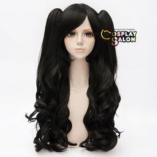 Long Curly Black Lolita 90cm Women Party Basic Cosplay Party Wig + 2 Ponytails