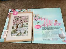 Spring Geese Under The Apple Tree cross stitch chart Only (697)