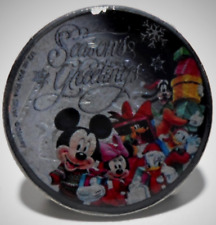 ENAMELLED COIN MICKEY MINNIE 10p TEN PENCE  PRESIN UK M6 XMAS 🔥🎄