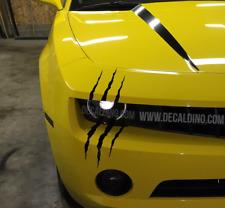Decal Dino™ Headlight Scar Kit - Fits Many Car monster scratch body stripe rally