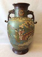 Japon vase balustre cloisonné dragons personnages apocryphe Xuande Ming c 1880