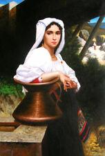 portrait femme italienne peinture huile sur toile / portrait italian female oil