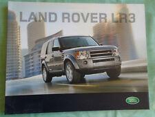 LAND Rover lr3 BROCHURE GAMMA 2008 mercato USA ref lrml 2681/08