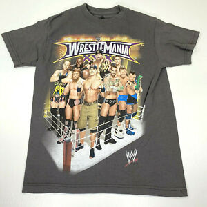 2014 WWE Wrestlemania XXX Gray Full Front Graphic Tee - Boys Large 10/12