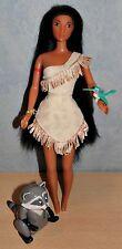 Barbie Pocahontas mit Vogel Waschbär Vintage 90er Jahre Puppe Disney Mattel