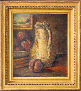 """Pierre Bonnard (1867 - 1947) French Listed Artist Oil Painting """"Peaches"""""""