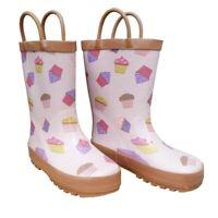 Pink Cupcakes Galore Toddler Girls Rain Boots 5-10