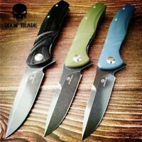 D2 Blade Ball Bearing Knives Folding Knife Outdoor Survival Pocket Camping G10