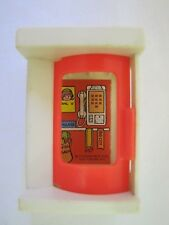 Vintage Fisher Price Little People VILLAGE PHONE BOOTH w/ RED DOOR #997 Great #2