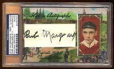 2015 HISTORIC AUTOGRAPH RUBE MARQUARD AUTO #D 6/11 PSA/DNA W/ ORIGINAL 1909 CARD