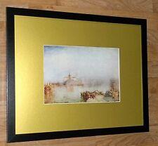 Dogana and Santa Maria Venice - vintage Turner print - 20''x16'' frame