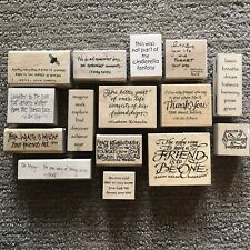 Lot Of 15 Quote Rubber Stamps