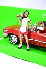 Brittany Drive Thru Camarera Patines American Diorama 23963 1:24 Escala Figura Nueva