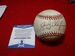 Jack Billingham Cincinnati RedsSigned Rawlings ONL Baseball COA Beckett Z72668