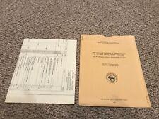 Vintage 1955 Us Geologic Survey of Zinc Lead Deposits Grant County Wisconsin