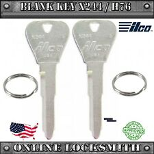 2 New Blank Keys For Ford Escort 1997-2003 Replacement Uncut Key Blade- X244/H76