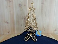 "Gold Metal Table Top Tree 21"" Swirl Design For Ornaments Christmas Holidays"