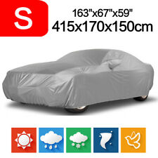 S Full Car Cover Sun UV Snow Dust Waterproof Out/Indoor Protective Silver