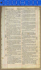 Genesis- Joseph's Brothers in Egypt - 1690s Bible Leaf