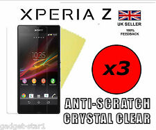 3x HQ CLEAR SCREEN PROTECTOR COVER LCD GUARD FILM FOR SONY XPERIA Z ANTI SCRATCH