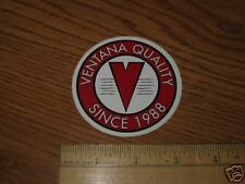 "3"" VENTANA QUALITY RED Road BIKE Tri  BICYCLE CAR race STICKER DECAL"