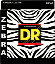 3 sets DR Strings Zebra Medium/Heavy 13/56 Acoustic Electric Guitar Strings