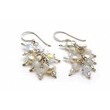 Earrings Stardust - Swarovski Crystal, Freshwater Pearls, Semi Precious Stones