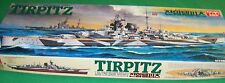 Academy Tirpitz German Battleship Motorized WS003 4000 1:350 Model Kit Cmplt M65