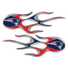 New England Patriots Auto Flame Decals 2 Pk [NEW] NFL Car Graphic Emblem CDG