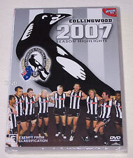 Collingwood Magpies AFL 2007 Season Highlights DVD New