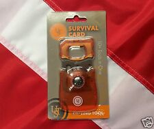 Survival Card 10 tools in one emergency equip disaster gear compact tactical UST