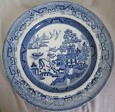 """Willow Pattern Ironstone China 9.8"""" Plate (S & J Burton Hanley?)"""