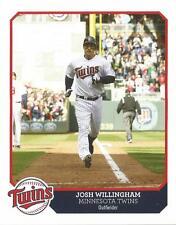 MINNESOTA TWIN 2014/15/JOSH WILLINGHAM FORMER OF. CARD. LOWER PRICE & SHIPPING!
