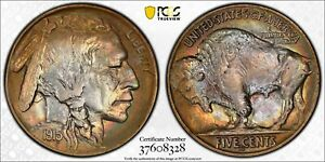 1915-D 5C Buffalo Nickel PCGS MS64 Toned Original