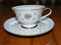 Nikko Seyei JAPAN Fine China Normandy Tea Cup & Saucer Rose Floral