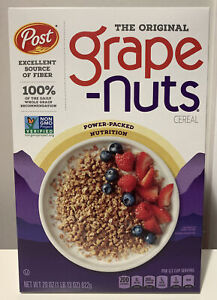 Grape Nuts Post Breakfast Cereal Original 29 Oz Expires 02/2022